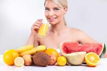 healthy lifestyle with tropical fruit